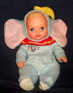 Water Babies Dumbo Baby Doll 1990 Vintage Lauer Toys 13 Blonde Blue