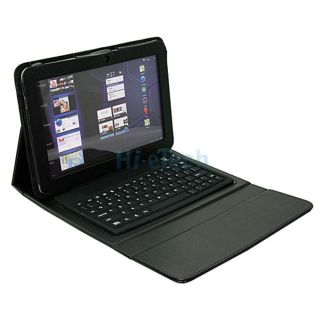 Bluetooth Keyboard PU Leather Case Cover for 10 1 Samsung Galaxy Tab