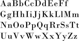 Bodoni Typeface Alphabet Wall Vinyl Decal Sticker