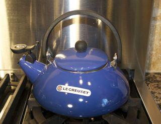 Le Creuset ZEN Cobalt Blue Whistling Tea Pot Kettle Enameled Steel 1 6