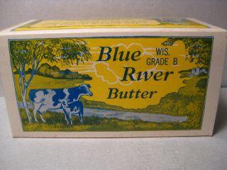 Blue River Butter Box Clarks Creamery Blue River Wisc