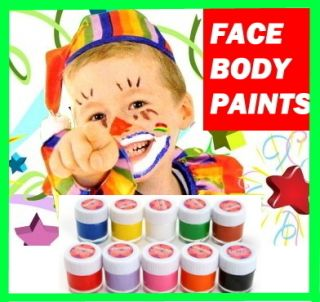 Face Body Painting Kit Party 5 Types Paint Non Toxic