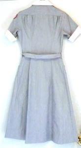 WWII Vintage 40s 50s American Red Cross Volunteer Nurse Uniform Dress