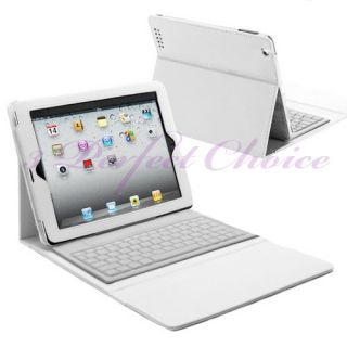 New Bluetooth Wireless Keyboard Leather Case Cover for The New iPad 3