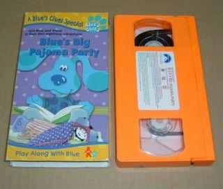 Blues Clues Blues Big Pajama Party VHS Video