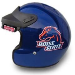Boise State University Broncos Open Face DOT Motorcycle Helmet