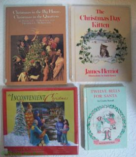 Lot of 4 Ex Library Hardbound Childrens Christmas Story Books