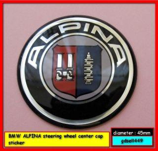 BMW ALPINA steering wheel Logo Cap Badge Emblem Cover Sticker for E60