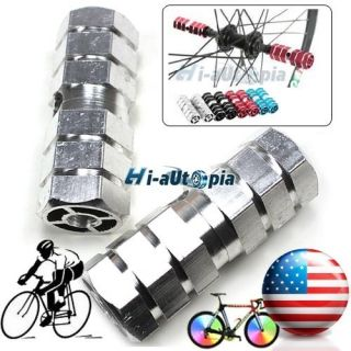 New BMX Bike Bicycle 3 8 Axle Alloy Foot Pegs Silver