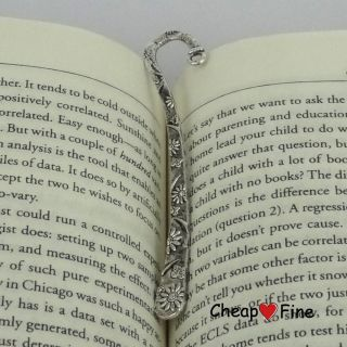 Wholesale 5 pcs Tibetan Silver LEAD FREE Fashion Flower bookmarks