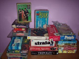 LOT OF VINTAGE BOARD GAMES PARKER BROS MILTON BRADLEY HASBRO MORE