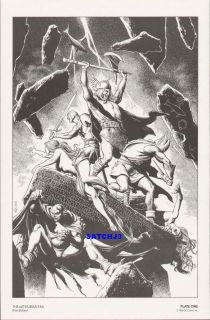 Brian Bolland Art 1986 Original Print Arthurian Era Camelot 3000 DC