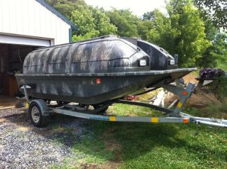 1998 14 ft Outlaw Duck Boat with Trailer Motor and Travel Covers