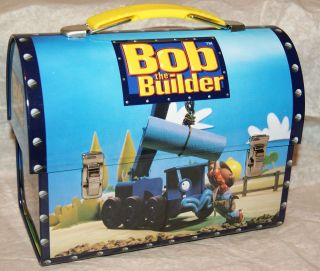 NEW Bob The Builder (CRANE) DOME METAL TIN LUNCH BOX LUNCHBOX
