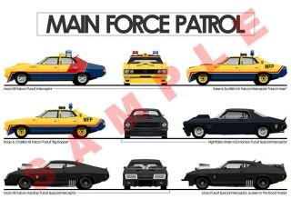 Mad Max Main Force Patrol 19x13 Poster Print Pursuit Interceptor