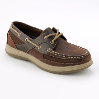 Croft Barrow Oxford Boat Shoes Sz 10 Brown