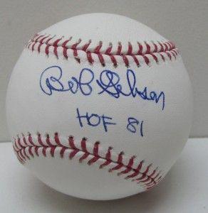 Bob Gibson Autographed St Louis Cardinal MLB Rawlings Baseball SI