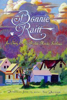 Bonnie Raitt Jon Cleary Warfield Concert Poster BGP283