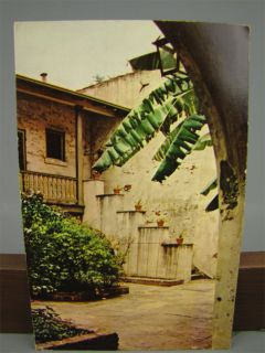 Vintage Postcard Bosque Courtyard New Orleans La Used