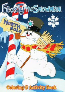 Frosty The Snowman Coloring Activity Book