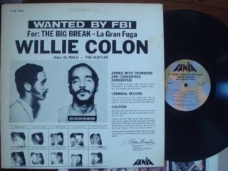 Willie Colon   La Gran Fuga/The Big Break (Fania SLP 394) Salsa LP