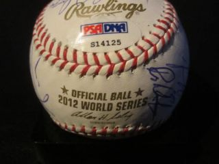 FRANCISCO GIANTS TEAM SIGNED WORLD SERIES BASEBALL PSA/DNA BOCHY ZITO