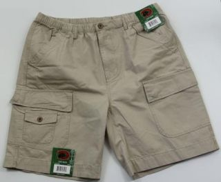 New Mens Cargo Shorts M Medium Boston Traders Khaki Free Shipping