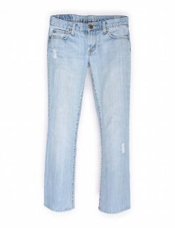 AMERICAN EAGLE OUTFITTERS Low Rise Light Blue Bootcut Jeans Sz 2R
