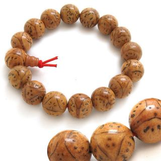 Big Tibetan 15 Dragon Eye Bodhi Seed Buddhist Prayer Beads Wrist Mala