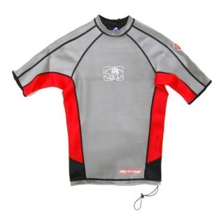 Body Glove Mens Super Rover Reversible SS Surf Shirt Size s Gray Red