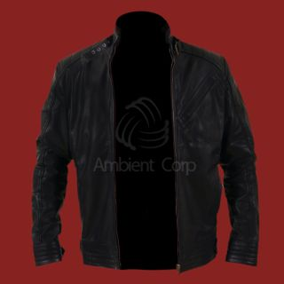 New Bourne Legacy Genuine Black Leather Jacket Jeremy Renner Aaron