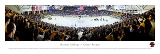 Boston College Eagles Hockey CONTE FORUM GAME NIGHT Panoramic Poster