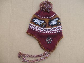 New Boston College Eagles Knit Earflap Hat Cap OSFA 309