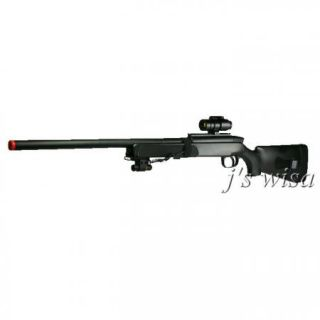 Bolt Action Airsoft Sniper Rifle Red Dot Scope Laser
