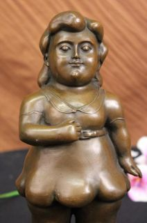 Abstract Bronze Figures Botero Sculpture Figurine Statue Art Deco