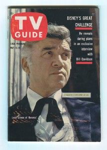 BONANZA Lorne Greene DISNEY Burr 1961 TV GUIDE Magazine #424 NO LABEL