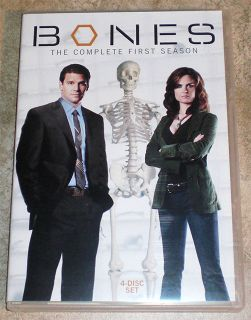 DVD TV Series Bones Complete First Season One 1 Crime Drama 4 Disc Set