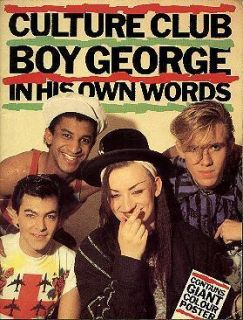 BOY GEORGE CULTURE CLUB   Lot Of 4 Softcover Fan Books 1980s