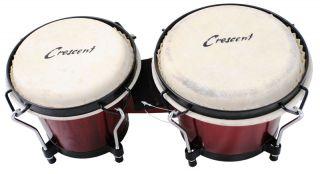 Pro 7 8 Tunable Bongos Sheep Skin Heads Bongo Drums Red