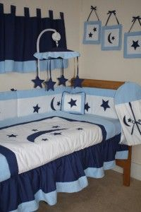 New Boys Musical Mobile Cotbed Cot Toy Baby Nusery Bedding Stars Moon