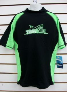 Boys SPF 50 Surf Shirt Rash Guard Short Sleeve Small thru XL RGCPS