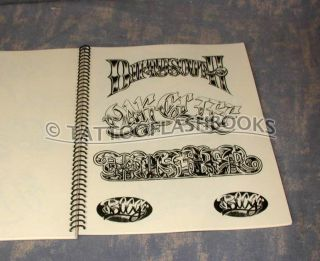 Boog Gangster Gentlemans Tattoo Flash Script Book Gun Kit Flash