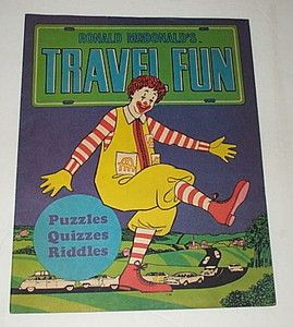 1960s Ronald McDonald McDonalds Travel Fun Book Unused