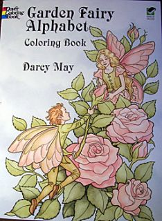Garden Fairy Alphabet Coloring Book by Darcy May New