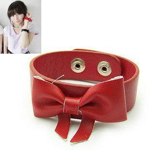 Korea Lovely Big Bow Leather Bracelet