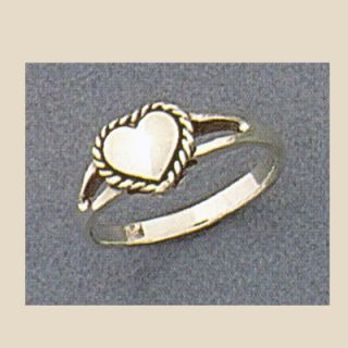 Sterling Silver Heart Rope Southwestern Ring Sizes 4 9