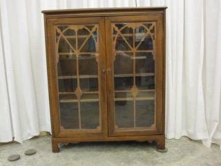 Antique Bookcase China Cabinet French Style Glass Doors