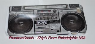 New Old School Boombox Stereo Apple iPhone 5 White Hard Plastic Case