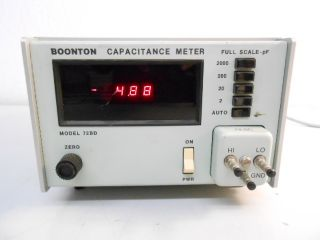 R95954 Boonton Electronics Model 72BD Capacitance Meter Full Scale PF