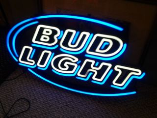 BUD LIGHT LED NEON LIGHTED BEER SIGN/MINT CONDITION/30LONG